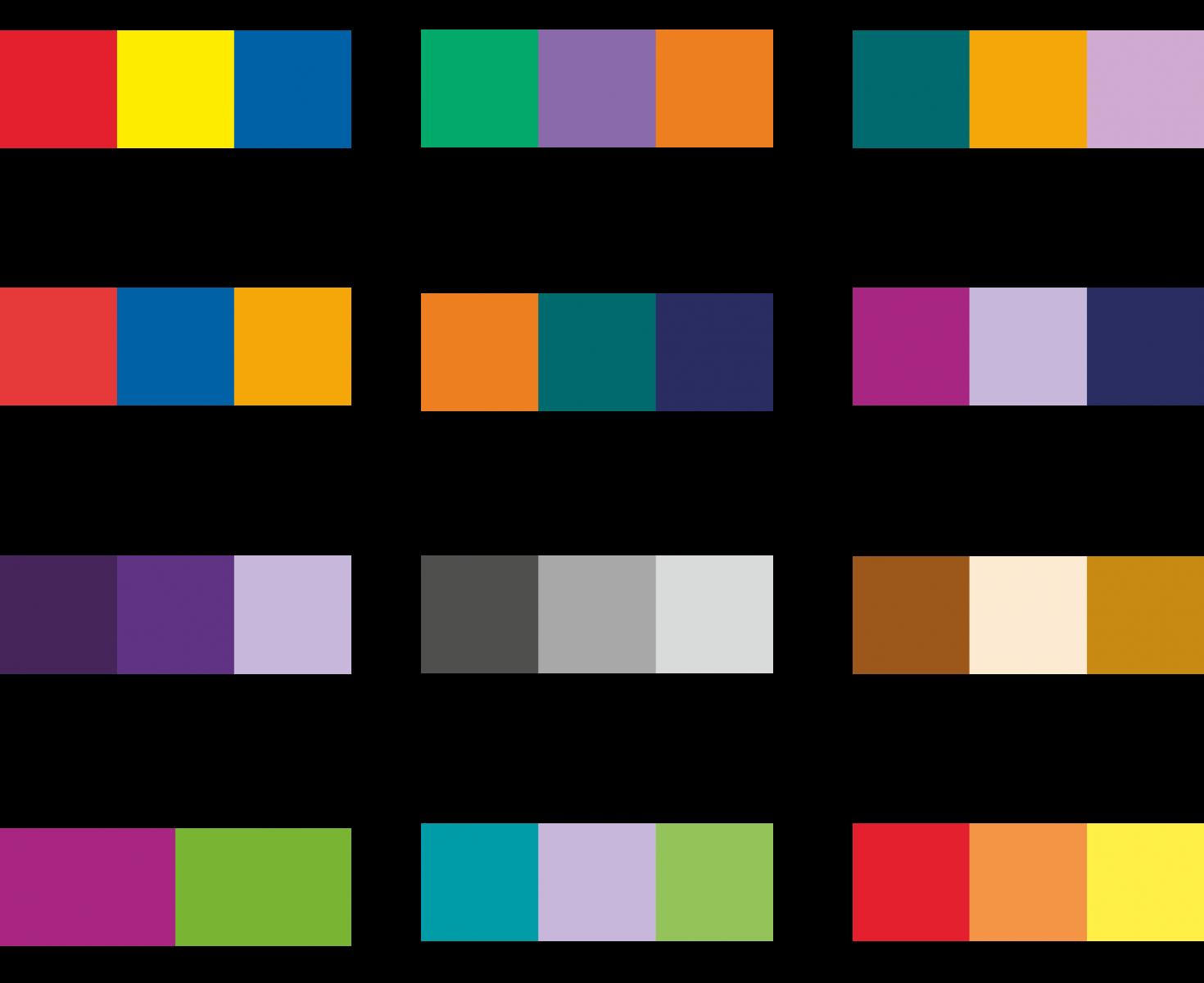 Combinazione colori di un logo