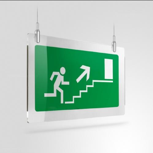 Cartello Plex: Scale di emergenza a soffitto