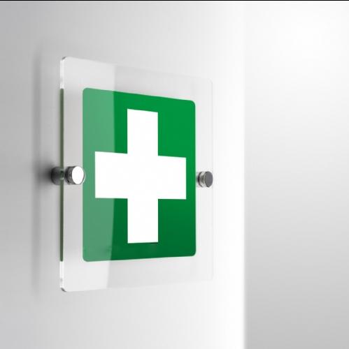 Cartello Plex: Croce Pronto soccorso E003 monofacciale