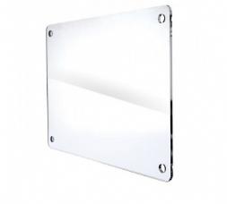 Targa Plexiglass Angoli Smussati 50x33cm