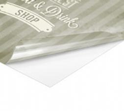 Adesivo in PVC per superfici liscie